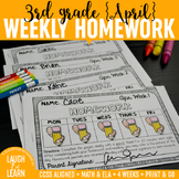 Third Grade Math & ELA Homework: April