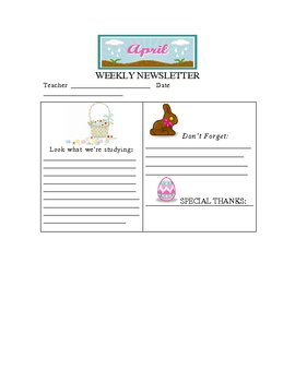 April Weekly Newsletter Template
