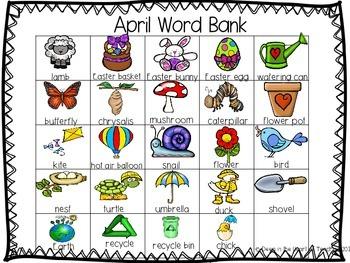 April Word Bank