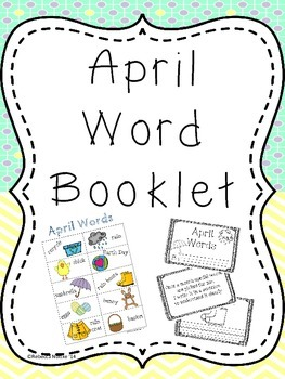 April Word Booklet and Coordinating Poster