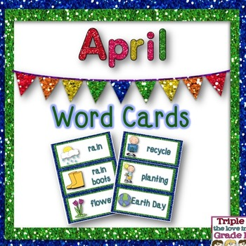 April Word Cards