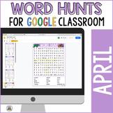 April Word Hunts