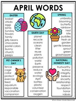 April Word List