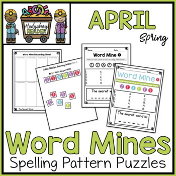 April Word Mines  -  CCSS Spelling Puzzles