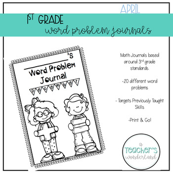 First Grade April Word Problem Journal