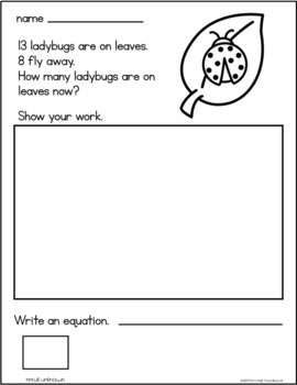 April Word Problems Addition and Subtraction Bundle