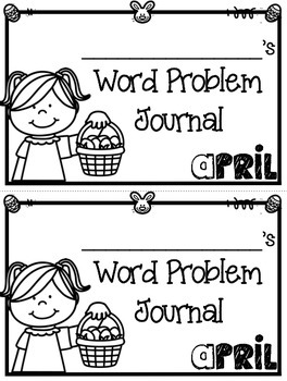 April Word Problems Journal Booklet