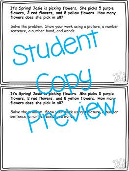 April Word Problems & Math Interactive Notebook Activities Pack!
