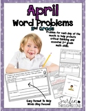 April Word Problems for 2nd Grade Common Core Aligned