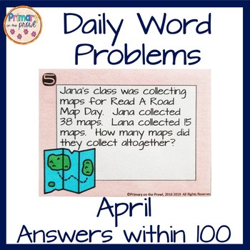April Word Problems within 100