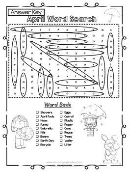 April Word Search 2 Level Bundle