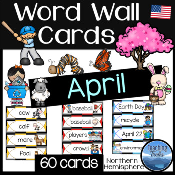 April Word Wall Cards