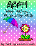 April Word Wall and Vocabulary Cards