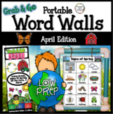 April Word Walls: Life Cycles, Plants, Farm, Earth Day, Sp