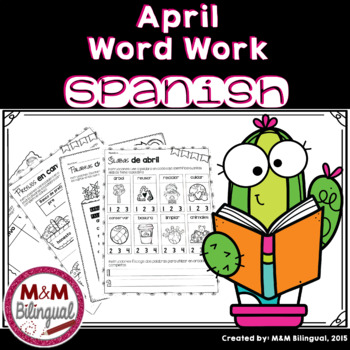 April Word Work {SPANISH}