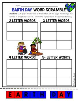 April Word Work: Word Scramble Puzzles