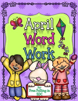 April Word Work (color by code using different word patterns)