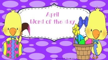 April Word of the Day (NO PREP)
