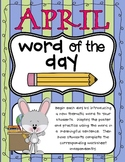 April Word of the Day