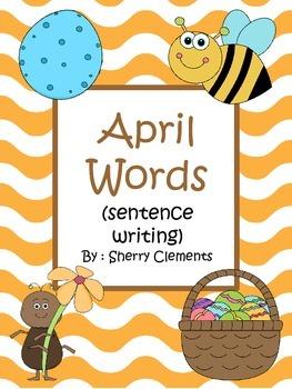 April Words Book (sentence writing)
