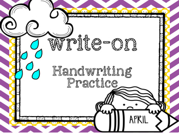 April Write-On (  Handwriting practice for 1st grade)