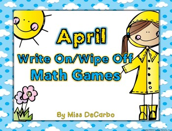 April Write On/Wipe Off Math Centers and Games! {Common Co