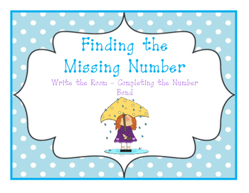 April Write-The-Room (Find the Missing Number in Each Number Bond)
