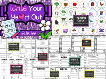 April Write Your Heart Out Writing Kindergarten
