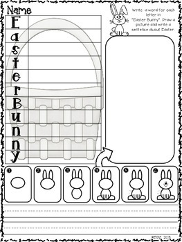 April Write the Room Activities for Kindergarten