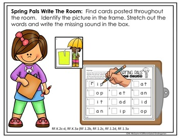 April Write the Room CVC - Blends - Digraphs Word Work