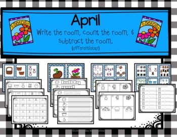 April Write the Room, Count the Room, & Subtract the Room