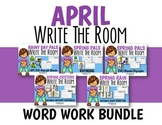 April Write the Room Word Work Bundle-Differentiated and Aligned