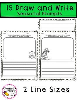 April Journal Writing Prompts  & April Writing Activities
