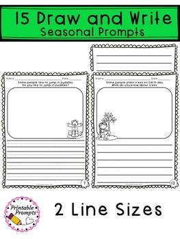 April Journal Writing Prompts  & April Writing Activities