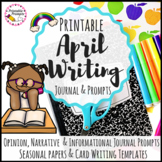April Writing Prompts Journal