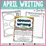 April Writing Activities Aligned to Common Core Standards