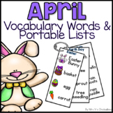 April Writing Activity: Bulletin Board Vocabulary Words & Word Rings