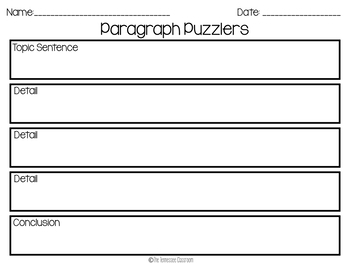 April Writing Activity: Paragraph Puzzlers