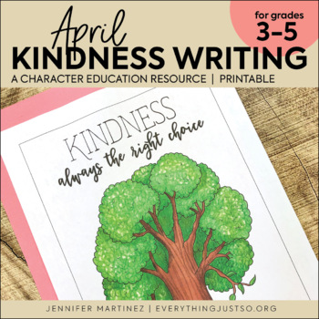April Writing Activity | Thankful for Kindness Writing | Earth Day Writing