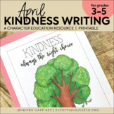 April Writing Activity | Thankful for Kindness Writing | E