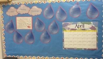 April Writing Challenge Bulletin Board