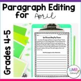 April Writing: Daily Paragraph Editing Worksheets