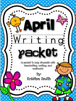 April Writing- Helping students with handwriting and writing skills!