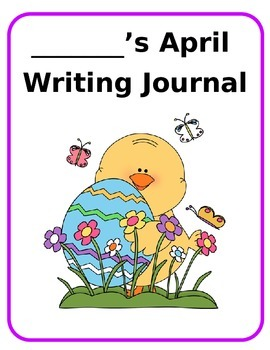 April Writing Journal Cover