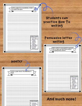 April Writing Journal Prompts