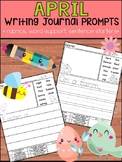 April Writing Journal Prompts - Peppy Pencil : No Prep Help for Beginner Writers