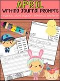 April Writing Journal Prompts -  SET 2 : No Prep, Beginner Writers, Spring