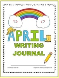April Writing Journal with 1st and 2nd grade Common Core S