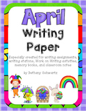 April Writing Paper