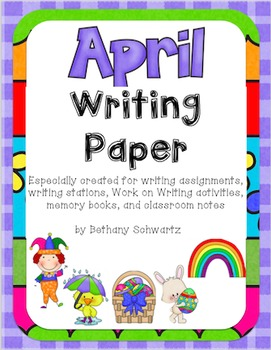 April Writing Paper